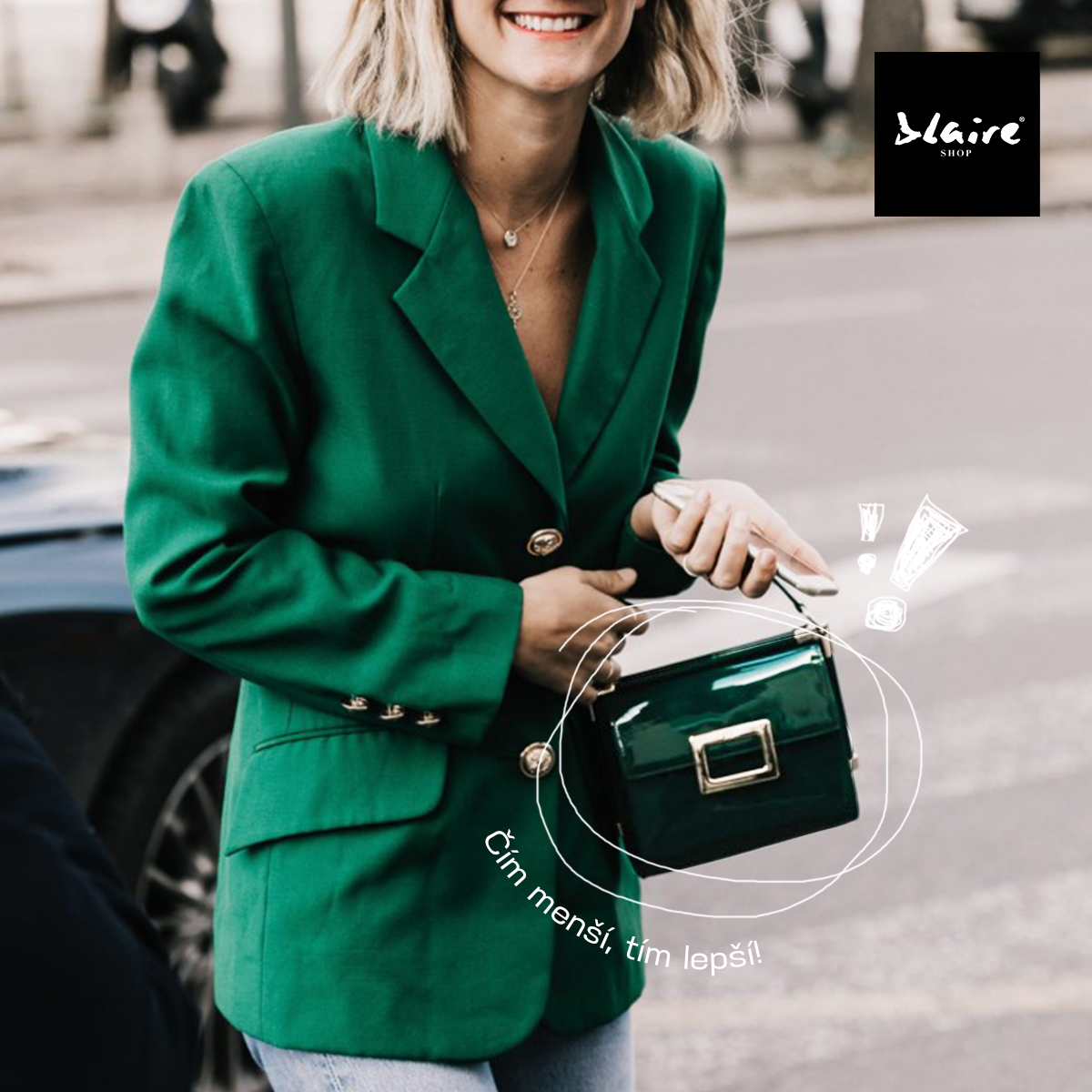 95fdf753a6 BLAIRE trend tip  Módní blogerky milují mini kabelky! - Blaire shop